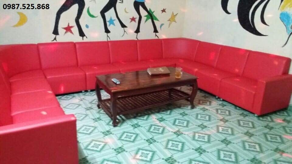 sofa karaoke giả da giá rẻ dt -01