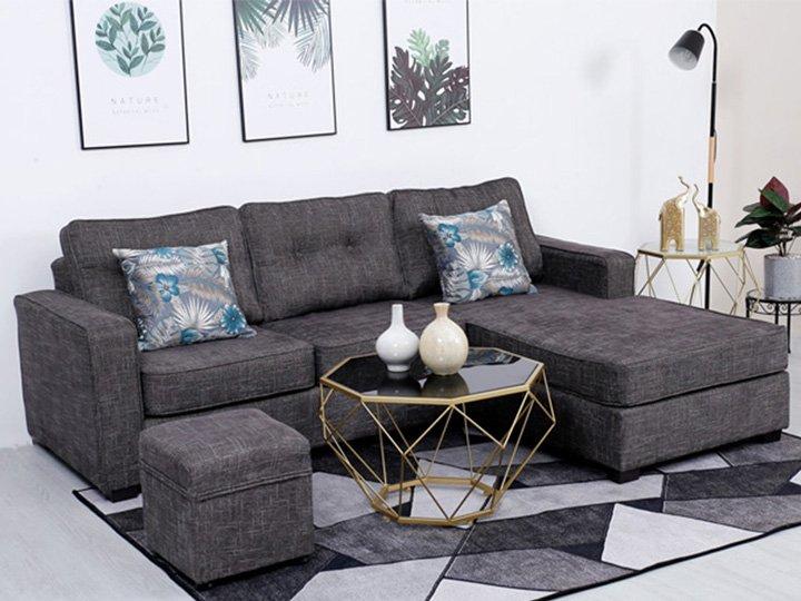 sofa chữ L xám giá rẻ