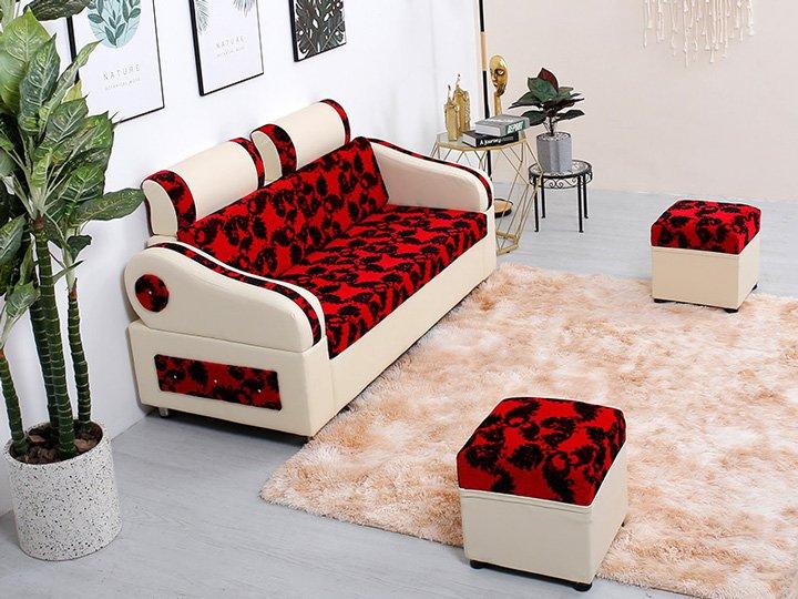 Sofa phòng khách màu đỏ mang đến phong cách sống đa dạng